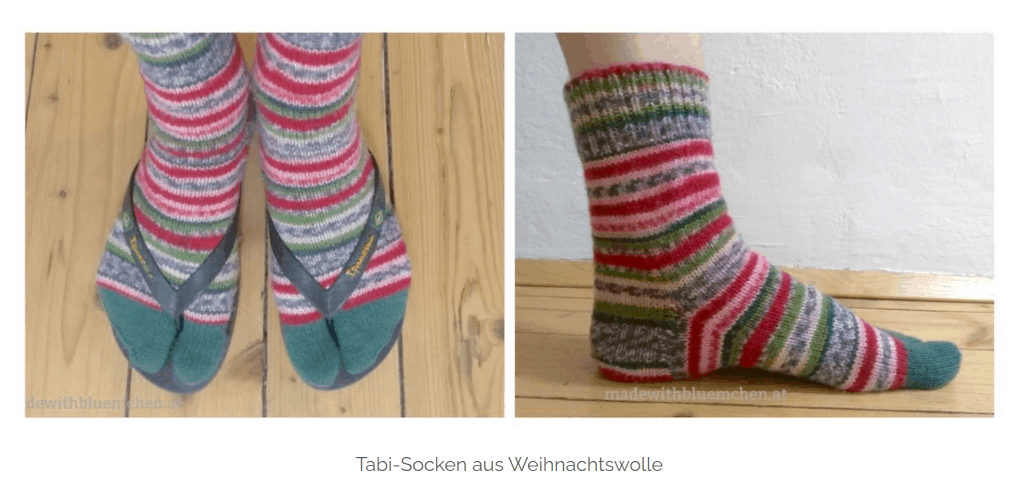 MadewithBluemchen Tabi Socken